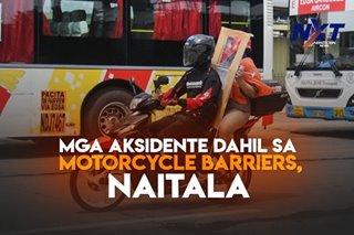 Mga aksidente dahil sa motorcycle barriers, naitala