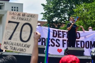ABS-CBN workers join SONAgkaisa protest to condemn franchise denial