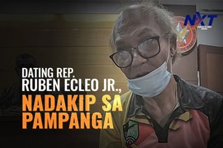 Dating Rep. Ruben Ecleo Jr., nadakip sa Pampanga