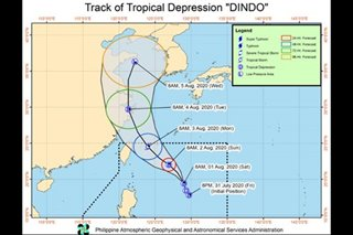 Tropical Depression Dindo slightly gains strength but far from PH land mass