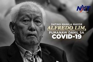 Dating Manila Mayor Alfredo Lim, pumanaw dahil sa COVID-19