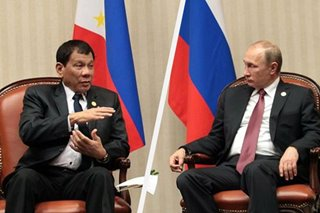 'In public, magpa-injection ako': Duterte thanks Russia for coronavirus vaccine offer