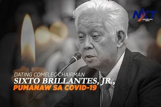 Dating Comelec Chairman Sixto Brillantes, Jr., pumanaw sa COVID-19