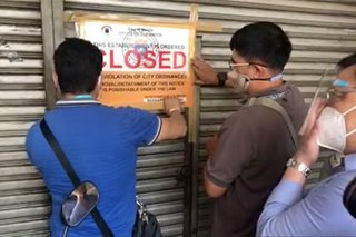 Manila shutters establishments for selling products labeling capital as China province
