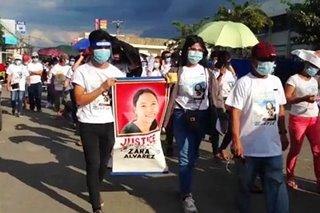 Pinaslang na human rights activist sa Negros na si Zara Alvarez, inilibing na