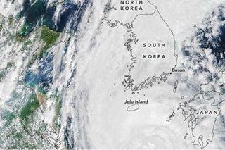 Typhoon Maysak drenches North and South Korea