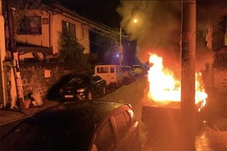 Car catches fire in San Juan