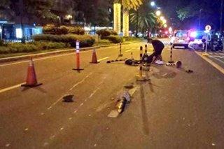 Motorcycle rider, patay matapos bumangga sa barrier sa Makati