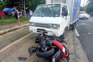 Motorcycle rider naputulan ng binti sa banggaan sa Silang, Cavite