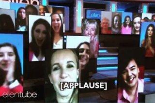 JM Rodriguez in live virtual audience as Ellen DeGeneres' show returns