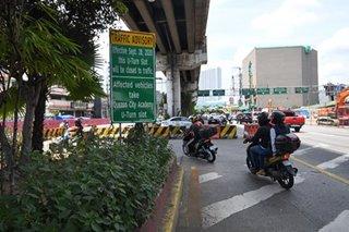 U-turn slot malapit sa MRT North Avenue station isasara simula Lunes