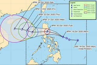 Signal no. 1 up in NCR, nearby provinces as 'Pepito' heads for Luzon