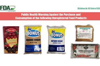 FDA warns public vs buying SM Bonus sugar, other unregistered food products