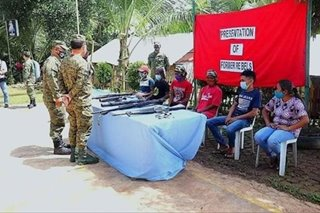 6 NPA rebels surrender in Maguindanao: military