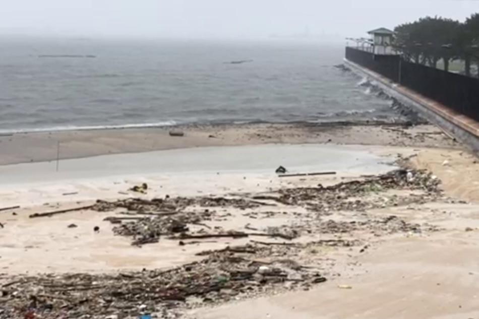 WATCH: Dolomite beach survives Typhoon Ulysses | ABS-CBN News