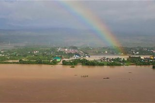 Rainbow over flood-hit Cagayan
