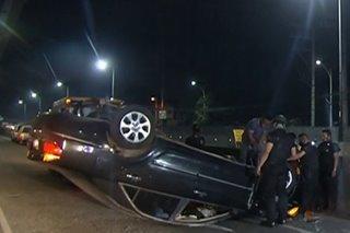 2 umano'y lasing na driver sangkot sa hiwalay na aksidente sa QC