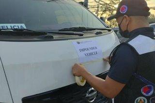 Mga kolorum na van at shuttle, huli sa operasyon sa Makati at Laguna