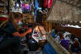 In a little shack
