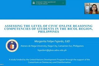 Higher education students in Bicol can't distinguish news from paid articles – study