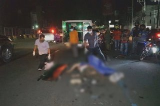 Motorcycle rider patay matapos magulungan ng truck sa Quezon City