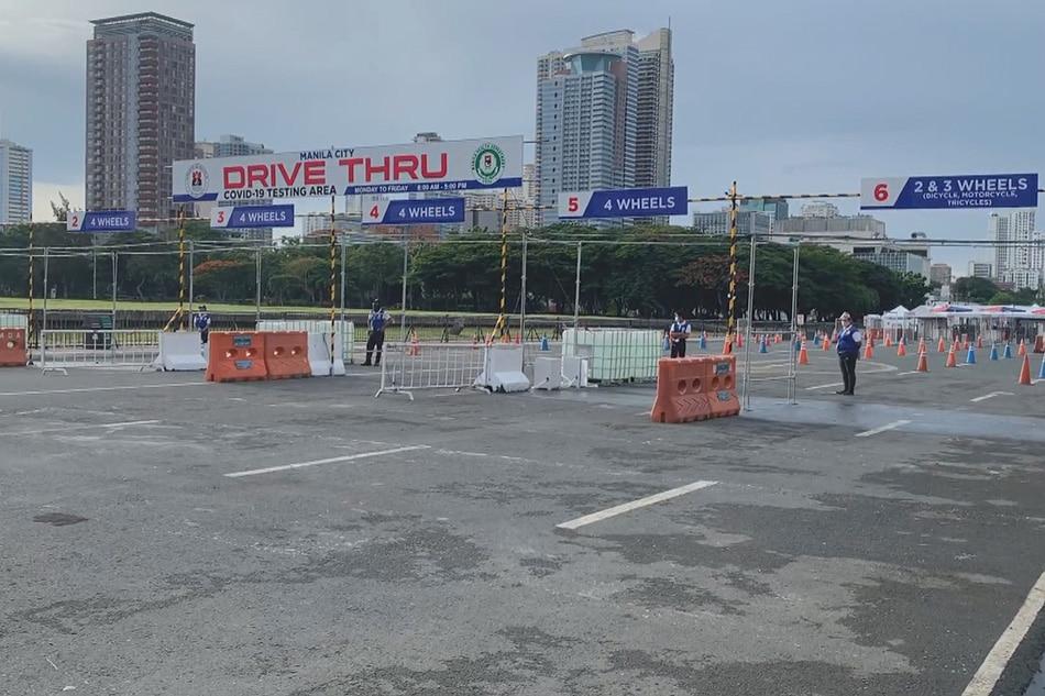 Drive-thru COVID-19 test center sa Maynila sinara nang 2 linggo 1