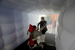 Cuddling in COVID: 'Hug bubble' lets seniors feel the magic of touch