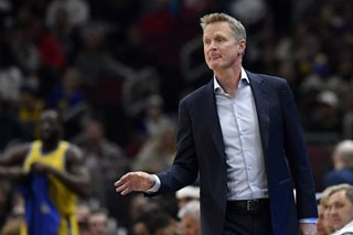 NBA: Warriors' Kerr fined $25K for verbally abusing ref