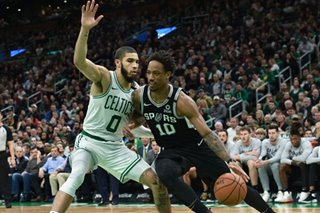 NBA: DeRozan, Spurs pound Boston for big road win