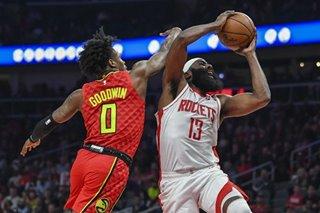 NBA: Harden's 40-point triple-double lifts Rockets past Hawks