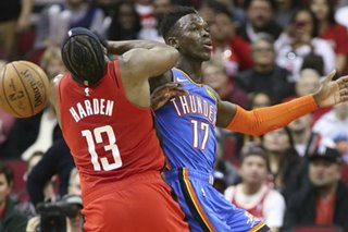 NBA: Thunder stun Rockets with fourth-quarter comeback