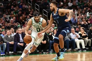 NBA: Tatum exits with injury, but Celtics down Grizzlies