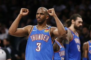 NBA: Paul, Thunder defeat Wolves for third time this season