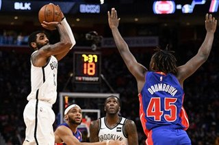 NBA: Irving's 45 get Nets past Pistons in OT