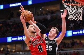 NBA: LaVine free throws lift Bulls over Spurs