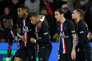 Football: PSG move 15 points clear with tight Nantes win