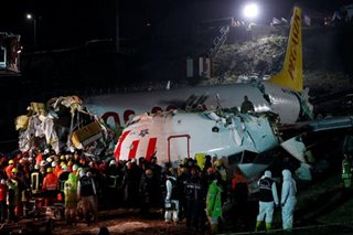 Plane skids off runway in Istanbul, killing 3 and injuring 179