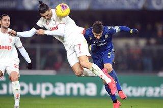 Football: Ronaldo sets scoring record but Juventus fall in Verona