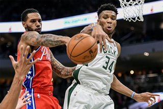 NBA: All-Star Simmons injured as Bucks rout 76ers