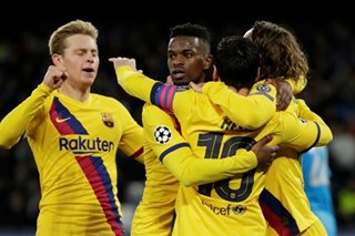 Football: Griezmann goal earns Barcelona draw at spirited Napoli