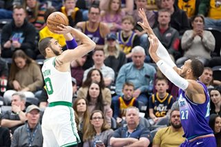 NBA: Celtics pull away from Jazz