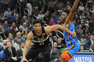 NBA: Bucks end Thunder's 5-game win streak in blowout fashion
