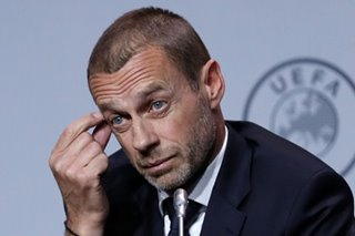Football: UEFA president admits that current season may not finish