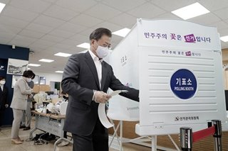 South Korea, including coronavirus patients, vote as parliamentary election kicks off