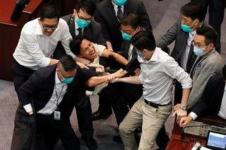 Anthem bill sparks new clashes in Hong Kong legislature