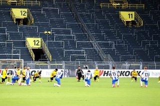 Football: Dortmund, Hertha take knee as Bundesliga rallies for Black Lives Matter