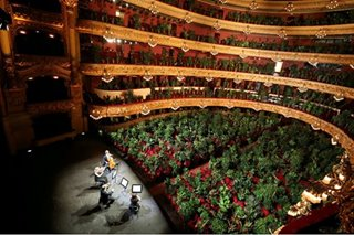 Barcelona opera reopens with concert...for house plants