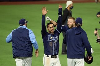 MLB: Rays rally with walkoff stunner to level World Series against Dodgers