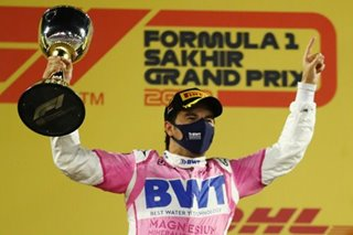 F1: Perez races from last to claim maiden win in crazy race
