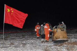 Chang'e-5 back with samples after lunar probe